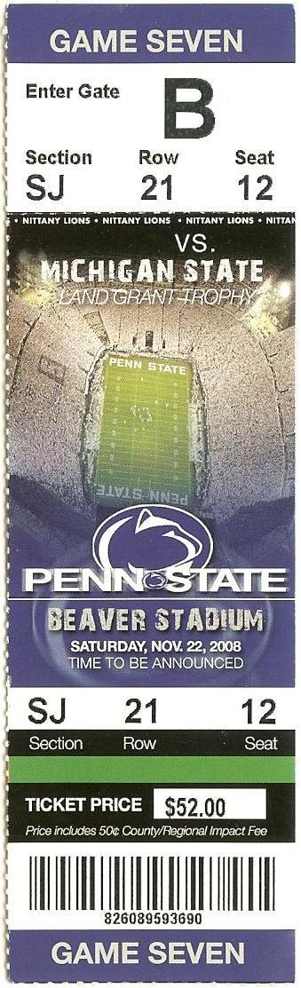 2008 PSU vs. Michigan St.